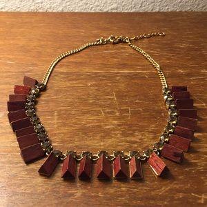 J. Crew wood necklace